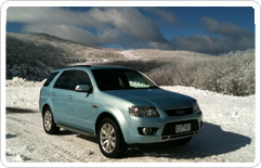 ford territory in the snow